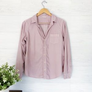 CP Shades Light Pink Button Down Blouse Pocket